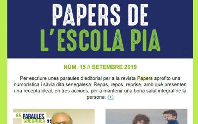 PAPERS DE L'ESCOLA PIA Nº15